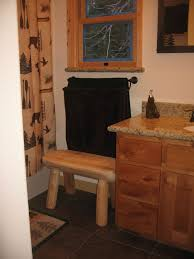 Bench For Bathroom by 20 Best Laporte Cabin Custom Pine And Log Finish Details And