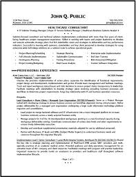 Project Resume Example by Healthcare Consultant Resume Sample The Resume Clinic