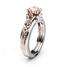 925 sterling silver engagement rings 1 carat created morganite vintage 925 sterling silver