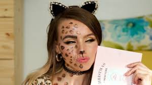 easy cheetah makeup tutorial halloween 2016 youtube