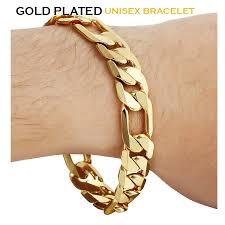 bracelet chain gold man images Kamas 22k gold plated chain bracelet for men women k015 suqrn jpg