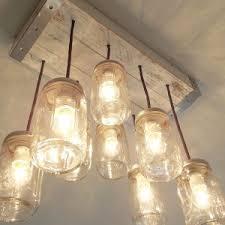 Pottery Barn Mason Jar Chandelier Decor U0026 Tips Amazing 8 Light Mason Jar Edison Bulb Chandelier For