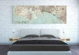 Long Beach California Map Long Beach Canvas Print California Ca Vintage Map Long Beach