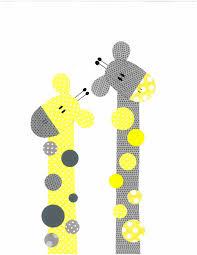 Yellow Baby Room by Yellow And Grey Giraffe Nursery Artwork Print Baby Room Decoration