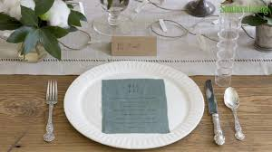 simple cotton thanksgiving table setting decorations southern living