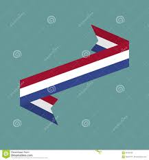 netherlands flag ribbon isolated dutch tape banner national sy