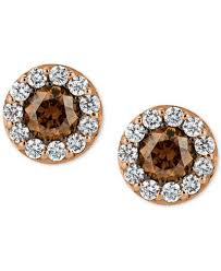 cheap stud earrings le vian chocolatier diamond stud earrings 3 4 ct t w in 14k