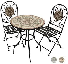 Garden Table And 2 Chairs Woodside Terracotta Mosaic Garden Table And Folding Chair Set