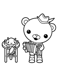 octonauts coloring pages captain barnacles playing accordion in the octonauts coloring page