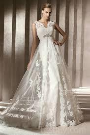 wedding dress overlay v neck mermaid satin vintage wedding dress with gorgeous lace