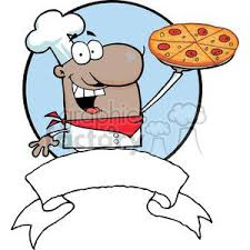 chef pizza royalty free american proud chef holds up pizza