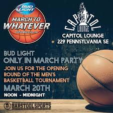 bud light party ball beer brackets and free shirts tomorrow at the barstool watch party