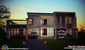 kerala home design flat roof elevation asian square feet house plans in kerala sq ft floor bedroom villa