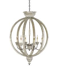 Currey And Company Lighting Currey And Company 9135 Dauphin 37 Inch Wide 6 Light Chandelier