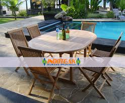 outdoor furniture sets round extending table and teak folding