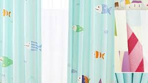 Blue Nursery Curtains Fish Teal Color Blackout Nursery Curtains For Kids With Nursery