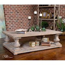 Weathered Wood Coffee Table Weathered Wood Pedestal Coffee Table Canyon Manor