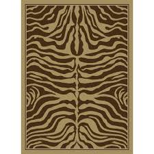 Brown Zebra Area Rug 53 Most Fabulous Ts Zebra Shag Rug Brown Roselawnlutheran Garden
