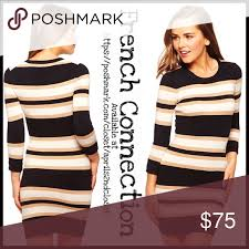 french connection striped shift dress nwt minis scoop neck and