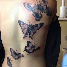 collection of 25 big butterfly on side back