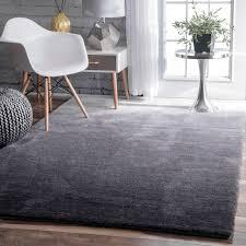 nuloom handmade soft and plush ombre grey shag rug 5 u0027 x 8 u0027 grey