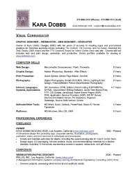 Resume Examples Graphic Designer by Design Resume Template