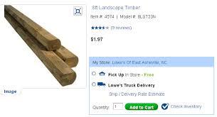 home depot jackson tn black friday sales 8ft landscape timber 1 97 at both lowes and homedepot