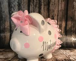 engraved piggy banks piggy bank etsy