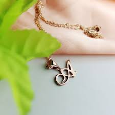 custom necklaces custom letter necklace 18k gold plated