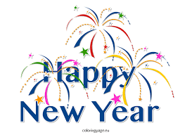 clipart happy new year coloring page