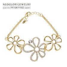 aliexpress com buy neoglory austria rhinestone charm bracelet
