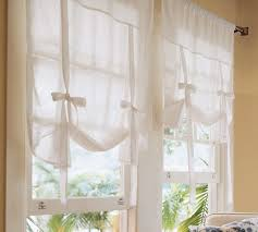 Curtains With Ties Pottery Barn Tie Up Curtains Let Some Light Shine Into Your Home