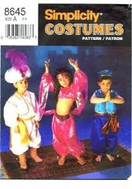 Girls Size 5 Halloween Costumes Buy Simplicity 8645 Sewing Pattern Girls Boys Genie Belly Dancer