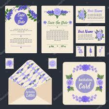 Wedding Invitation Greeting Cards Wedding Invitation Stationary Set Floral Decoration Wedding
