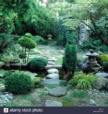 Japanese Style Garden by Japanese Garden With Juniperus Stock Photos U0026 Japanese Garden With