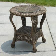 northcape international winward cocoa woven oval outdoor end table