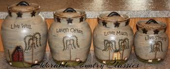 primitive kitchen canisters adorable country classics cookie jars butter churns ceramic