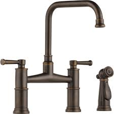 brizo 62525lf rb artesso venetian bronze two handle bridge kitchen