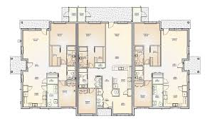 multi unit row house plans arts
