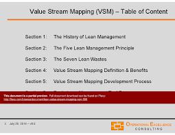 Value Stream Mapping Lean Value Stream Mapping Vsm Powerpoint Slideshow View