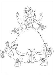 cinderella dressing coloring cinderella pages