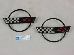 c4 corvette emblem 91 92 93 94 95 96 c4 corvette emblem pair set gas lid and front
