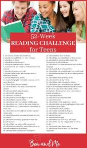 52 week reading challenge for teens reading challenge