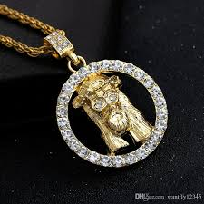 jesus hip hop necklace images Wholesale hollow ring jesus head pendant necklace men 39 s exquisite jpg