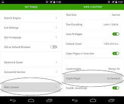 android flash browser tips working flash player for dolphin browser on kitkat android