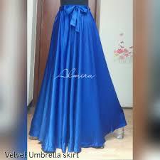 rok panjang muslim jual rok panjang payung pesta muslimah velvet umbrella