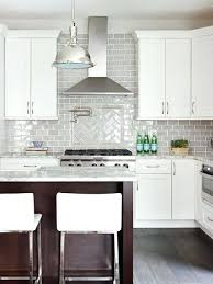 subway kitchen backsplash grey and white backsplash white kitchen with marble subway tile