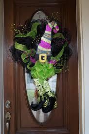 halloween door garland holidays felicity florist llc