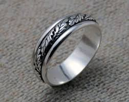 silver band sterling silver band etsy