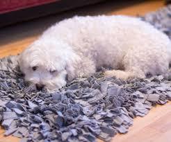 Leftover Carpet Into Rug Diy T Shirt Jersey Shag Rug 6 Steps With Pictures